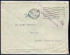 FRANCE - LETTRE EN FRANCHISE DU CONSULAT DE FRANCE A TERRE NEUVE LE 3/5/1918 POUR LOCHES - TB - Storia Postale