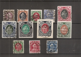 Dantzig ( Lot De 12 Timbres Différents De 1921 Oblitérés ) - Danzig