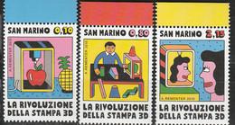 PIA - SAN MARINO - 2015 : Rivoluzione Della Stampa 3D -  (SAS  2469-71) - Saint-Marin