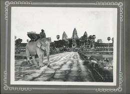 ANGKOR  Indochine 2 Photos Cambodge 230 X 170mm No Postcard TB Collées Recto-Verso Sur Page D'album 2 Scans - Lieux