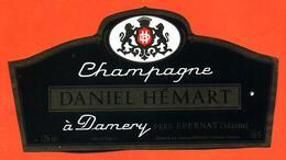 étiquette De Champagne Brut Daniel Hémart à Damery - 75 Cl - Champagne