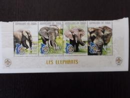ELEPHANT - TCHAD - 2000 - BANDE DE 4 MNH ** - Elephants