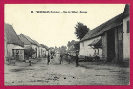 CPA Flesselles - Rue De Villers Bocage - Otros Municipios