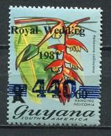 Guyana Mi# 855 Postfrisch MNH - Flora Overprints Lady Diana Royal Wedding - Guyana (1966-...)