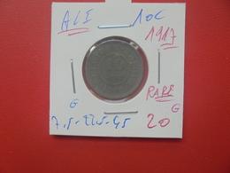 Albert 1er. 10 CENTIMES 1917  (A.1) - 04. 10 Centimes