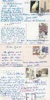 CHINA 4 POSTCARD WITH STAMPS - 1949 - ... République Populaire