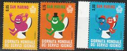 PIA - SAN MARINO - 2015 : Giornata Mondiale Dei Servizi Igienici -  (SAS  2485-87) - Saint-Marin