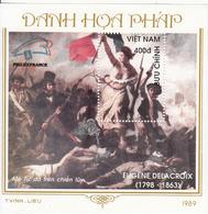 1989 Vietnam French Revolution Liberty Souvenir Sheet MNH - Vietnam