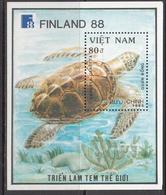1988 1989 Vietnam Turtles Souvenir Sheet MNH - Vietnam