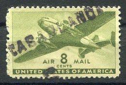 "RC 15722 USA 8c VERT MARQUE LINÉAIRE "" CASABLANCA "" ( MAROC ) WWII - Air Mail"