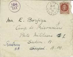 Lettre 25.5.43 Adressée Au Camp Internement Civil EMBRUN Ouvert Le 23.5.43 à Borfiga Ancien Membre Du Consulat Britaniqu - Storia Postale