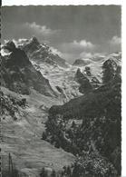 LA GRAVE (HAUTES-ALPES)  GLACIER ET POINTE DE LA MEIJE VUS DE LA SALLE A MANGER DE L 'HÔTEL CASTILLON - Frankreich