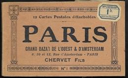 CPA  -- CARNET DE 12 PARIS  GRAND BAZAR DE L OUEST . CHERVET Fils Rue AMSTERDAM  316.F* - Autres