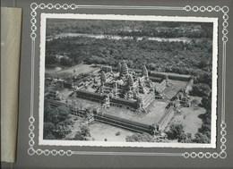 Indochine 2 Photos AIR En INDOCHINE 1936 Cambodge Angkor 230 X 170 Mm  TB Collées Recto-Verso Sur Page D'album 2 Scans - Lieux