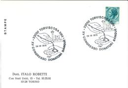 Blutspende 33050 Torviscosa Udine Wasserturm Hand Blut Kongress - Medicine