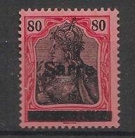 Saar - 1920 - N°Yv. 16 - 80p Rouge Et Noir - Gepr. / Signé Brun - Neuf * / MH VF - Neufs