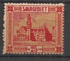 Saar - 1922-23 - N°Yv. 90 - 25c Rouge Et Jaune - Neuf Luxe ** / MNH / Postfrisch - Unused Stamps
