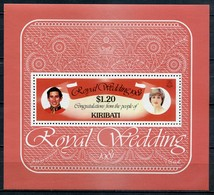 Kiribati Mi# Block 8 Postfrisch MNH - Lady Diana  Royal Wedding - Kiribati (1979-...)