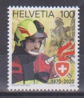 Timbre De Suisse De 2020 Thème Série Sur Les Pompiers Suisse Tp MNH ** New - Firemen