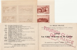 20 Timbres- Vignettes La Belle France Cote D'Azur Corse - Vignettes De Fantaisie