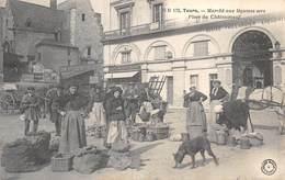 20-2899 : TOURS. EDITION DU GRAND-BAZAR. PLACE DE CHETEAUNEUF. MARCHE AUX LEGUMES SECS. - Tours