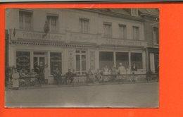76 Forges Les Eaux - COMMERCE - Tabacs BILLARD D. Dumontier - Café Du Commerce - Carte Photo - - Forges Les Eaux