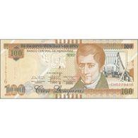 TWN - HONDURAS 102b - 100 Lempiras 12.6.2014 (2017) Prefix CH - Printer: OBERTHUR FIDUCIARE UNC - Honduras