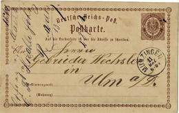 """Baden, Nach Verwend. K1 """" MUNZINGEN """", 1874 , A3066 - Entiers Postaux"""