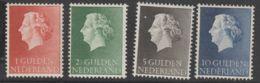 Nederland NVPH 1954 Nr  637-640  MLH - 1949-1980 (Juliana)