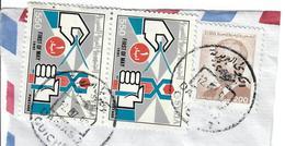 SIRIA 1992 - 1° MAGGIO - 3 VALORI USATI SU FRAMMENTO - Syrie