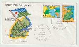 Djibouti FDC Independance Day 27-6-1977 - Djibouti (1977-...)