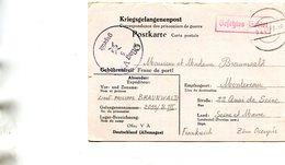 Militaria Militaire Guerre 1939 1945 Carte Correspondance Soldat Camp Prisonniers écrit à Montereau Fault Yonne Cachet - Guerre 1939-45