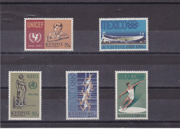 CHYPRE 1968 Yvert 302-306 NEUF** MNH - Chypre (République)