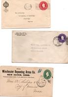 Winchester New Haven - Harvard Cambridge - Harmony Shoe Maine - 3 Stationery 1893 1923 1935 - Postwaardestukken