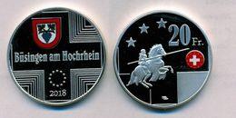 BUSINGEN AM HOCHRHEIN 20 FRANCHI 2018  FONDO SPECCHIO NON UFFICIALE - [11] Collections