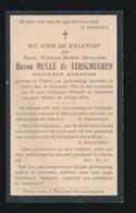 ADEL  BARON  MULLE De TERSCHEUREN  TIELT - GENT 1914  87 JAAR OUD - Décès