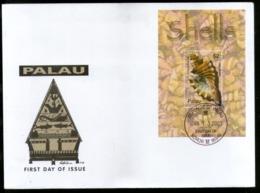 Palau 2003 Sea Shell Cowries Marine Life Sc 711 M/s FDC # 9423 - Marine Life