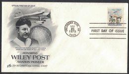 IZ459   USA - Wiley Post, Aviation Pioneer -  FDC 1979 - Aviones