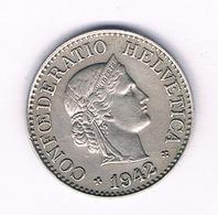 10 RAPPEN 1942 ZWITSERLAND /1663/ - Zwitserland