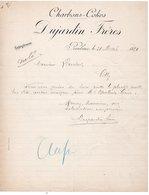 CHARBONS - COKES - DUJARDIN FRERES - ROUBAIX - GILLY - LE 28 MAI 1894. - France