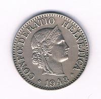 10 RAPPEN 1943 ZWITSERLAND /1664/ - Zwitserland