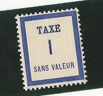 Fictifs - Timbre Taxe FT1 - Phantomausgaben