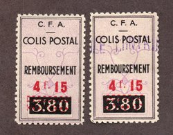 """Algérie Colis Postaux  N°77a Et 77 Sans """"controle""""   N** LUXE  Cote 35 Euros !!!RARE - Paquetes Postales"""