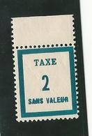 Fictifs - Timbre Taxe FT2 Bord De Feuille - Phantomausgaben