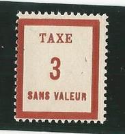 Fictifs - Timbre Taxe FT3 - Phantomausgaben