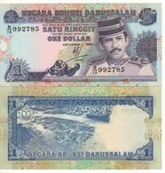 BRUNEI   1 Dollar    P13b  Dated  1994    UNC - Brunei