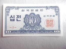 COREE-BILLET DE 10 JEON-1962 - Corée Du Nord