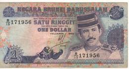 BRUNEI   1 Dollar    P13a  Dated  1992   VF - Brunei