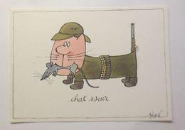 Humorkarte,  Sine, Chat Sseur, 1981 ♥   - Humour