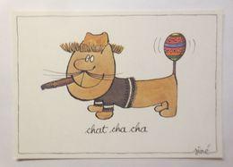 Humorkarte,  Sine, Chat Cha Cha, 1980 ♥   - Humour